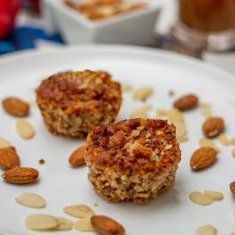 Muffin de maça com amêndoas