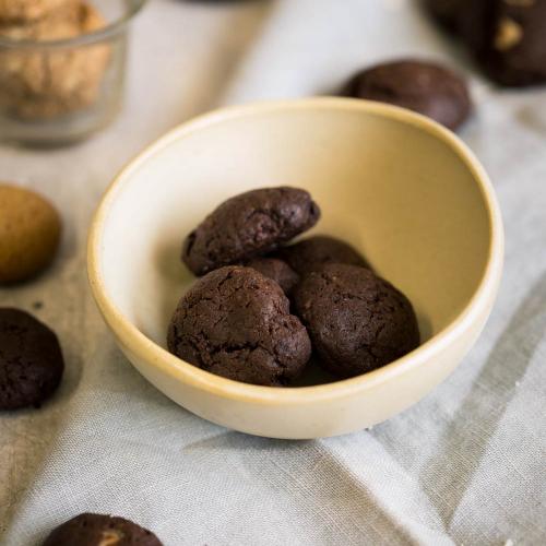 Cookie chocolate com nozes