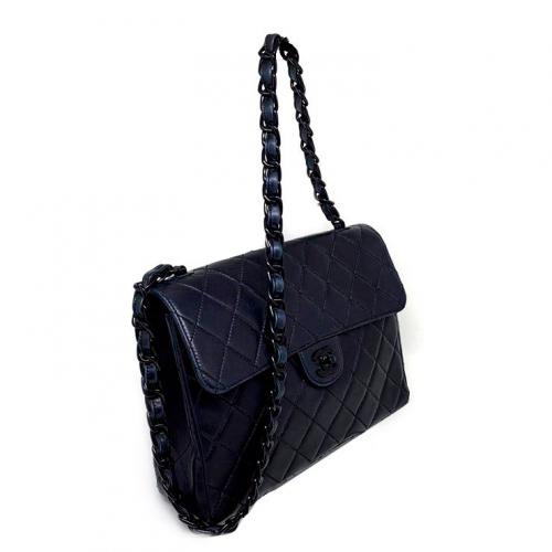 Bolsa Chanel Flap So Black   Couro Lambskin   Preta - lateral 2