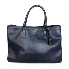 Bolsa Prada Galleria | Couro Saffiano | Preta - frente