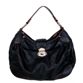 Bolsa Louis Vuitton Mahina | Couro | Preta - frente
