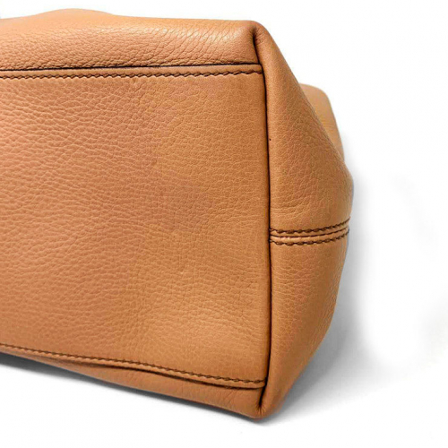 Bolsa Gucci Soho Shoulder | Couro | Bege - fundo direito