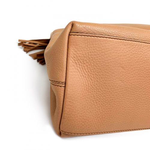 Bolsa Gucci Soho Shoulder | Couro | Bege - fundo esquerdo