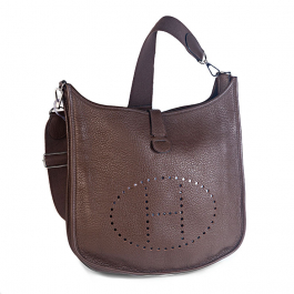Bolsa Hermès Evelyne 33 | Couro | Etoupe - frente