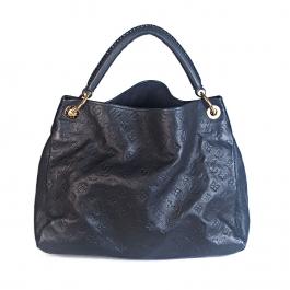 Bolsa Louis Vuitton Artsy MM | Couro Empreinte | Azul marinho escuro - frente