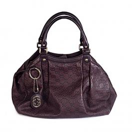 Bolsa Gucci Sukey Guccissima | Couro | Marrom - frente