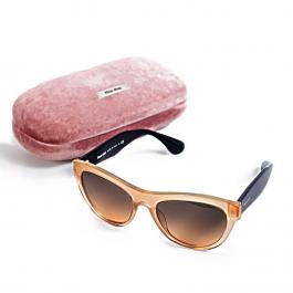 Óculos Miu Miu | Dourado furta-cor com gliter | Haste preta - completo