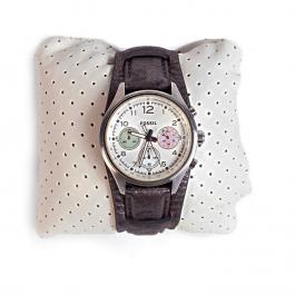 Relógio Fossil | Pulseira em couro envelhecido | Grafite - frente