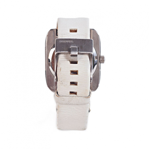 Relógio Diesel DZ5119 | Pulseira em couro branco - trás