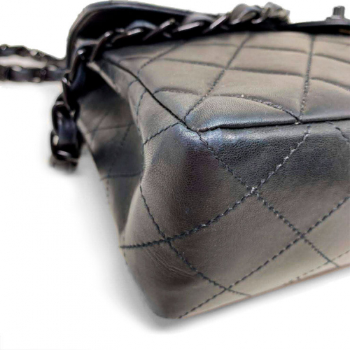 Bolsa Chanel Flap So Black   Couro Lambskin   Preta - fundo esquerdo