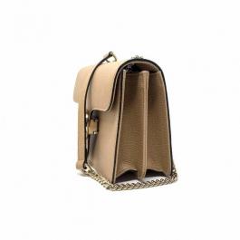 Bolsa Gucci Interlocking | Couro | Bege - lateral