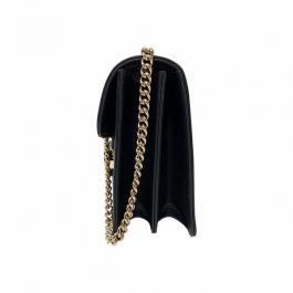Bolsa Gucci Interlocking | Couro | Preta - lateral