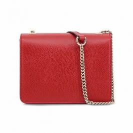 Bolsa Gucci Interlocking | Couro | Vermelha - trás