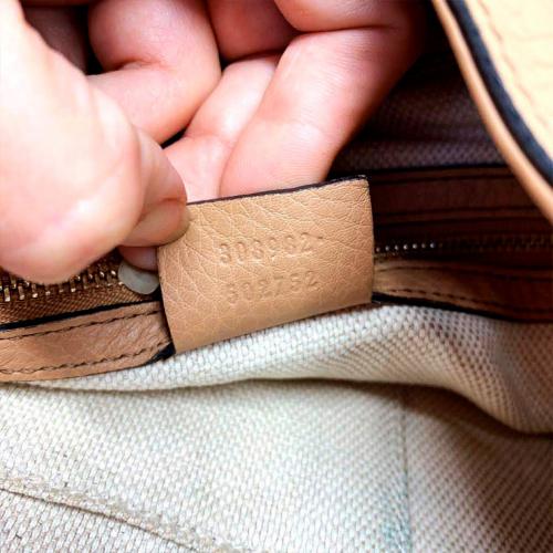 Bolsa Gucci Soho Shoulder | Couro | Bege - registro