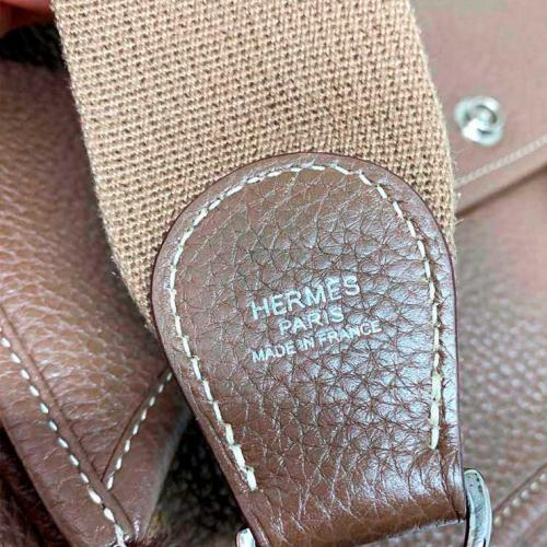 Bolsa Hermès Evelyne PM | Couro | Etoupe - marca alça