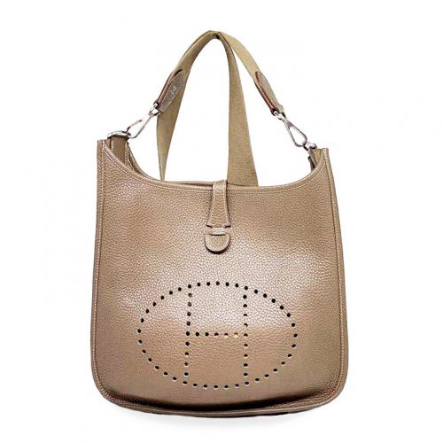 Bolsa Hermès Evelyne PM | Couro | Etoupe - frente