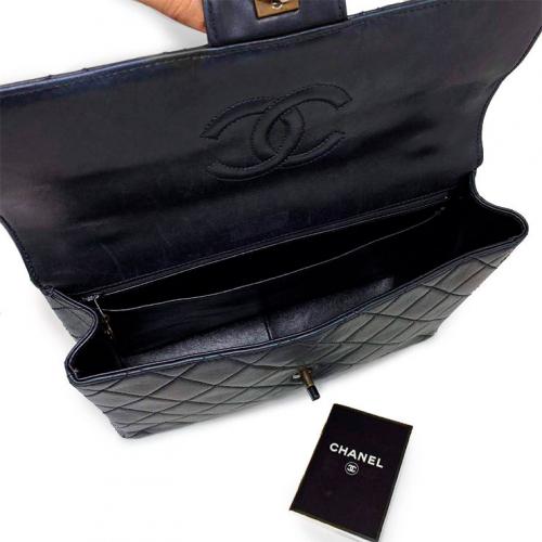 Bolsa Chanel Flap So Black   Couro Lambskin   Preta - forro