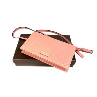 Bolsa Gucci Microguccissima Clutch | Tiracolo | Couro | Rosè