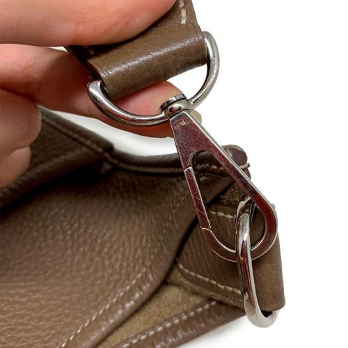 Bolsa Hermès Evelyne PM | Couro | Etoupe - ferragens