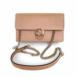 Bolsa Gucci Interlocking WOC | Couro | Bege - alça