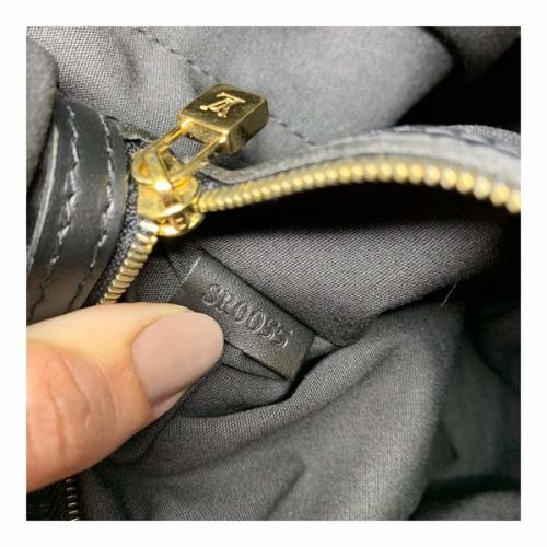 Bolsa Louis Vuitton Lucille GM Mini Lin Noir Tecido Preta Cinza