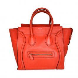 Bolsa Cèline Luggage | Couro | Vermelho alaranjado - frente