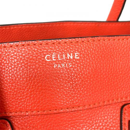 Bolsa Cèline Luggage | Couro | Vermelho alaranjado - marca