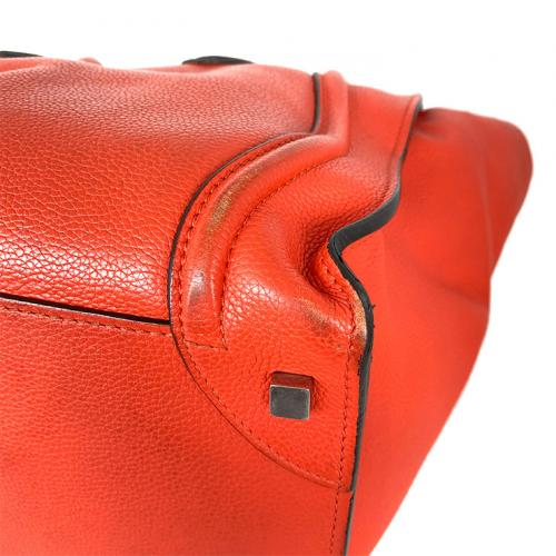 Bolsa Cèline Luggage | Couro | Vermelho alaranjado - fundo direito
