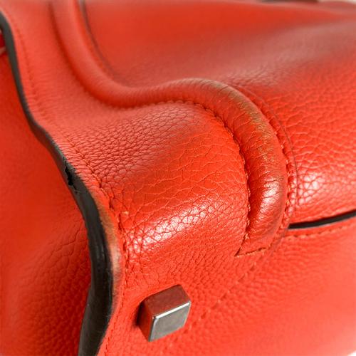 Bolsa Cèline Luggage | Couro | Vermelho alaranjado - fundo esquerdo