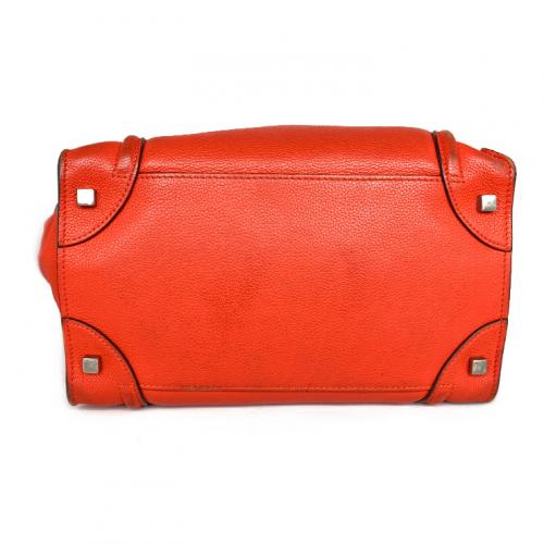 Bolsa Cèline Luggage | Couro | Vermelho alaranjado - fundo