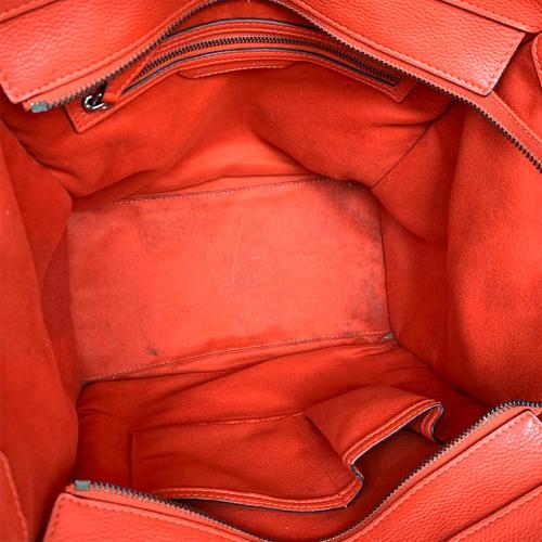 Bolsa Cèline Luggage | Couro | Vermelho alaranjado - forro