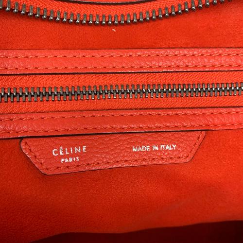 Bolsa Cèline Luggage | Couro | Vermelho alaranjado - ziper