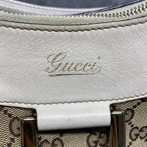Bolsa Gucci | Linho Jacquard | Alça creme - marca