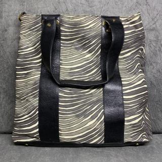 Bolsa Tory Burch | Nylon e couro | Zebrada