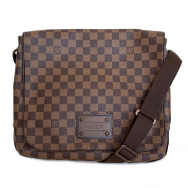 Pasta Louis Vuitton | Transversal | Canvas | Damier Ebene - frente