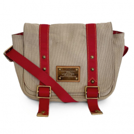 Bolsa Louis Vuitton transversal | Lona | Bege - frente