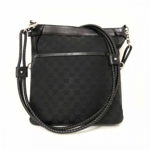 Bolsa Gucci | Transversal | Linho Jacquard | Preta | Carteiro