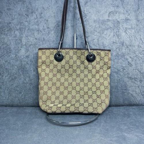 Bolsa Gucci | Linho Jacquard | Monograma - frente