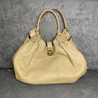 Bolsa Louis Vuitton Mahina | Couro | Bege - frente