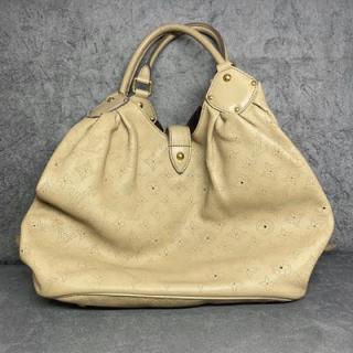 Bolsa Louis Vuitton Mahina   Couro   Bege - trás