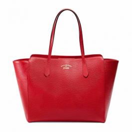 Bolsa Gucci Swing | Couro | Vermelha (Formato sacola | Lisa)