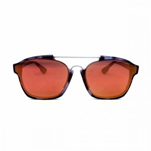 Óculos Dior Abstract Tartaruga Lente Espelhada Laranja Verão