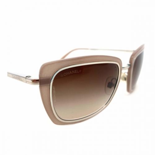Óculos Chanel   Feminino   Bege   Lente marrom