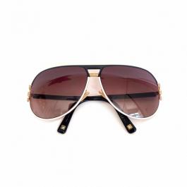 Óculos Dior | Acetato | Lente Marrom | Haste preta | Detalhes dourados - frente