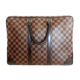 Pasta Louis Vuitton Porte-Documents Voyage | Canvas | Damier Ebene - frente