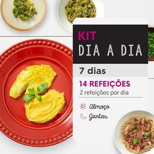 Kit dia a dia | Saudável | 7 dias | Almoço e Jantar | Mamãe Fitness