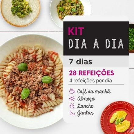 Kit dia a Dia | Saudável | 7 dias | 4 refeições | Marmita Fitness