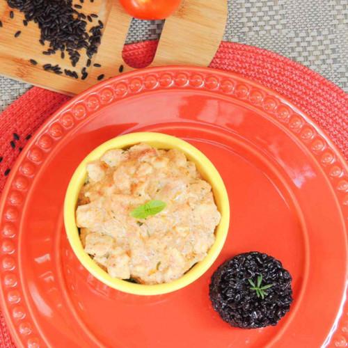 Estrogonofe de frango com arroz negro Da Mamã Fitness