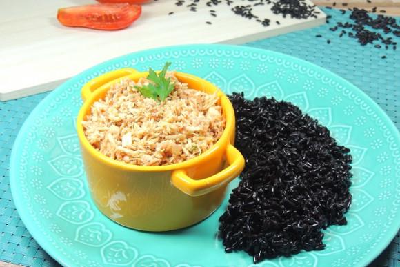 Da Mamãe Fitness | Frango desfiado + arroz negro