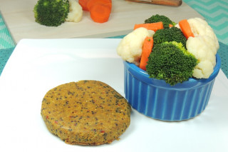 Da Mamãe Fitness | Hamburguer de Quinoa com vegetais